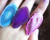 Sale / Agate Slice Rings