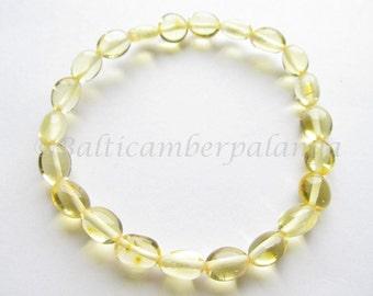 Baltic Amber Lemon Color Bracelet/Anklet For Adults