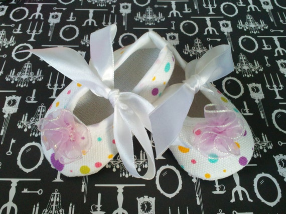 Colorful Polka Dot Crib Shoes