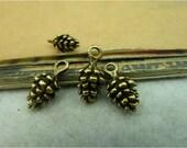 30 pcs 15x5mm Antique Bronze Brass 3D Small Pineal Pinecones Pine Cones Charms Pendants fc99523