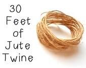 Jute Twine - Natural - 1 Ply - 30 Feet