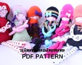 PATTERN  , Jale , the cloth doll, soft doll, rag doll,  handmade,stuffed doll