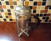 Vintage French press coffee maker  (only for show)