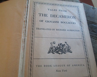Early 1900's Vintage Book- Tragedy/ Erotica- Tales from the Decameron