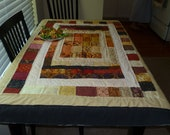 Rustic Quilt Table Covering or Lap Quilt Fall Colors