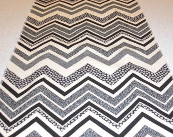 Ebony and Ivory Chevron Tablerunner