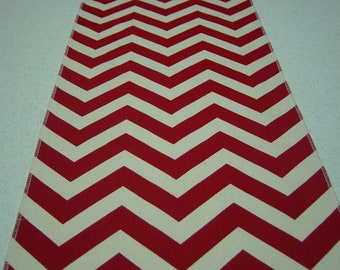 Red Chevron or Zig Zag Table Runner