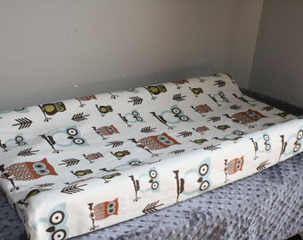 Woodland Owls Contour Changing Pad Cover