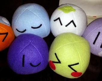 Hand-made: 2 Small (3x4 in) Dango plushes