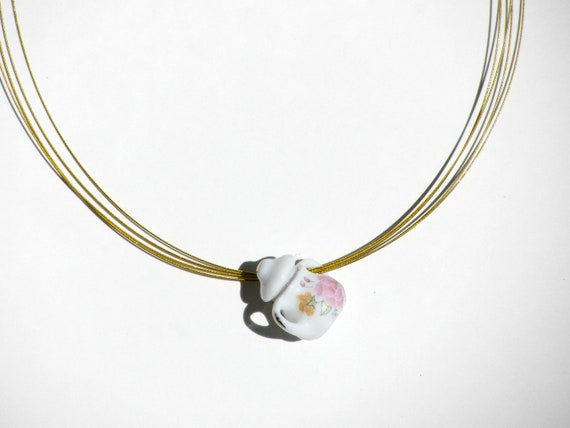 Alice in Wonderland - Dormouse's Sugar Pot Necklace
