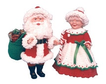 PDF Crochet Santa Pattern - Crochet Santa and Mrs Claus Pattern - (836) Td creations