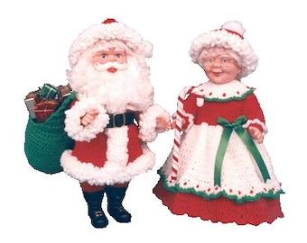 PDF Crochet Santa Pattern - Crochet Santa and Mrs Claus Pattern - (836) Td creations