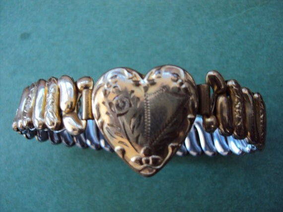 Vintage 40s to 50s Sweetheart Expansion Bracelet by Co Star