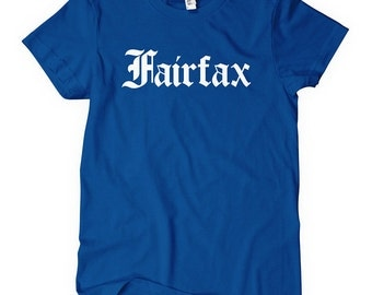 Women's Fairfax Tee - Gothic - S M L XL 2x - Virginia - Los Angeles T-shirt - 4 Colors