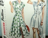 Vintage 1940s Shorts Playsuit Skirt Pattern Simplicity 2444 Bust 36 FREE SHIPPING