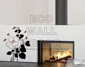 PEEL and STICK Removable Vinyl Wall Sticker Mural Decal Art - Romantic Black Rose Decal