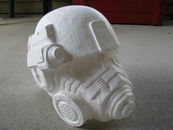Fallout: New Vegas Advanced Riot Gear Helmet Raw Cast