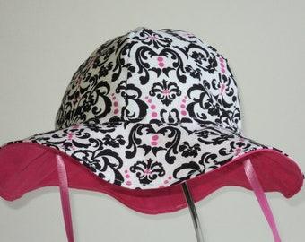 Baby Sun Hat- Baby Gift - Toddler Sunhat - Baby Girl Sun Hat - Cotton Summer Hat - Beach Hat -Floppy Hat - Made to Order Newborn to 7 Yrs