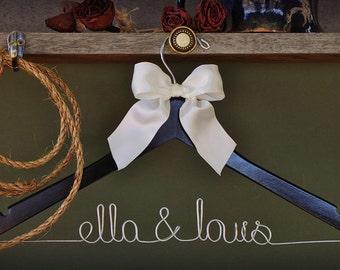 Custom Wedding Dress Hanger- personalized with Bride & Groom's names