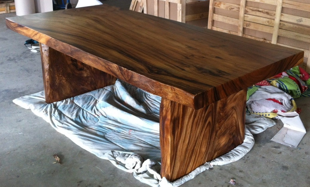 Live Edge Dining Table Reclaimed Solid Slab Acacia Wood By