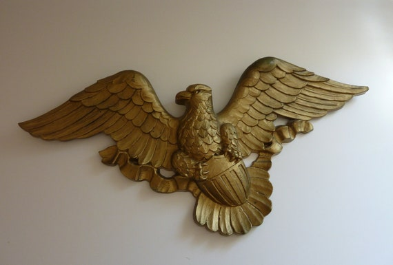 Gold Colonial Vintage Eagle Wall Hanging 1960 S Made In