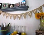 Custom Baby Name Burlap Banner, Last Name, Baby Shower, Photo Prop, Giraffe