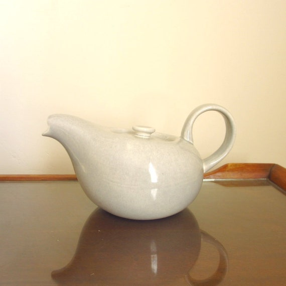 SALE Russel Wright Coffee Pot in Granite Gray, Steubenville Pottery, American Modern
