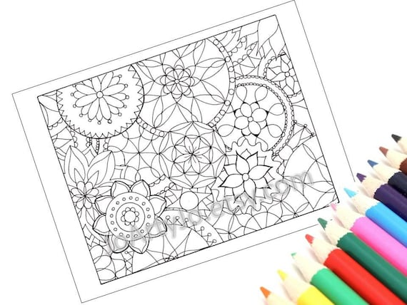 Mandalas Coloring Page Kids Arts And Crafts Printable Page