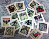"""Mixed french tags, applique..Qty 15pcs. Size: 2 1/2"""" x 2 1/2"""""""