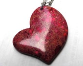 Rose Heart Mosaic Pendant ONLY