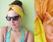 Citrus - hand dyed headband/murMur