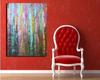 HUGE....Colorful.....original acrylic painting abstract art