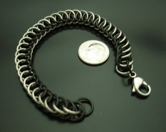 Half Persian 4 in 1 Black and Silver Bracelet