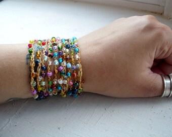 Eezy Peezy: Versatile crocheted necklace / bracelet / belt / headband