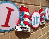 Cat in the Hat Inspired Highchair Banner Party Banner 1st Birthday