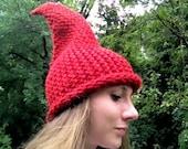 Elf / Gnome Hat Red