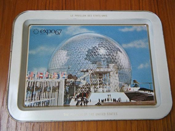 Vinage Expo 67 World's Fair Serving Tray, 1967 Canada - Treasury Item