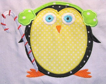 Winter Penguin 03 Machine Applique Embroidery Design - Winter Penguin - Christmas Penguin Applique - Christmas - Winter Penguin Applique