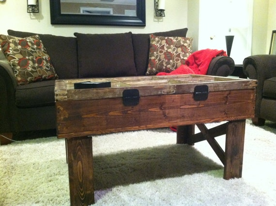 Reclaimed Window Coffee Table with Storage-Free shipping