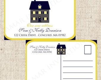 PRINTABLE  We have Moved, Change of Address Postcards