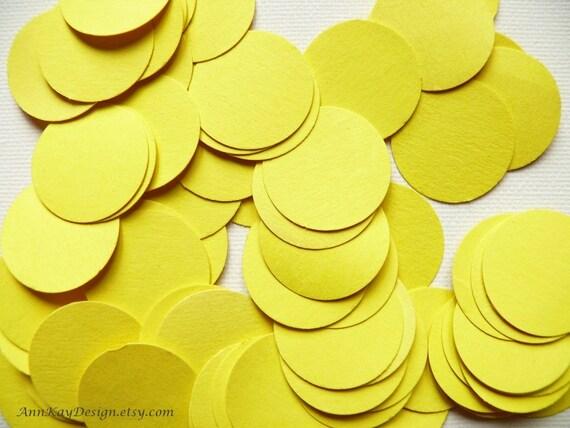 Yellow Confetti 200 Pieces 1 inch Paper Circles