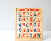 Wooden Letter Number Block Toy Stand - LittlePlaces