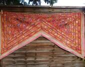 Beautiful Vintage Toran, window hanging, door hanging, banjara throw, Rajasthani throw, Tribal embroidery