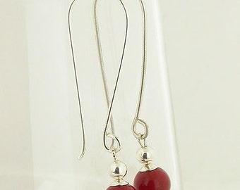 Red Coral Hangs On Two Inch Hook 24