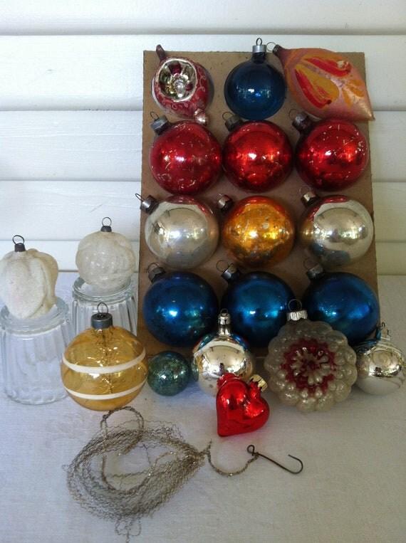 Vintage Group Christmas Ornaments-  20 Total
