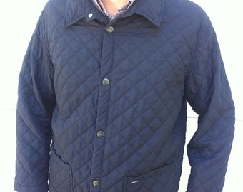 Beretta navy blue diamond quilted jacket