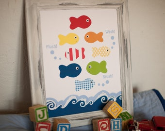 Popular items for kids bathroom art on Etsy