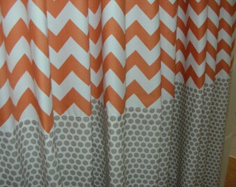 Baby Bedding Drapery Nursery Curtain Panels  Fully Lined any fabric with contrast