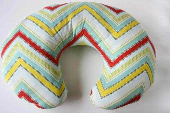 Nursing pillow cover, multicolor chevron--ready to ship