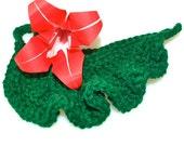 Crochet scrubbie leaf. Woodland bath. Break up with your soap dish.